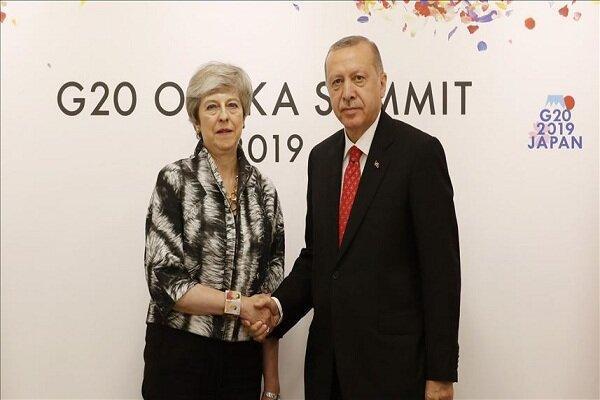 دیدار اردوغان و ترزا می در حاشیه نشست جی 20