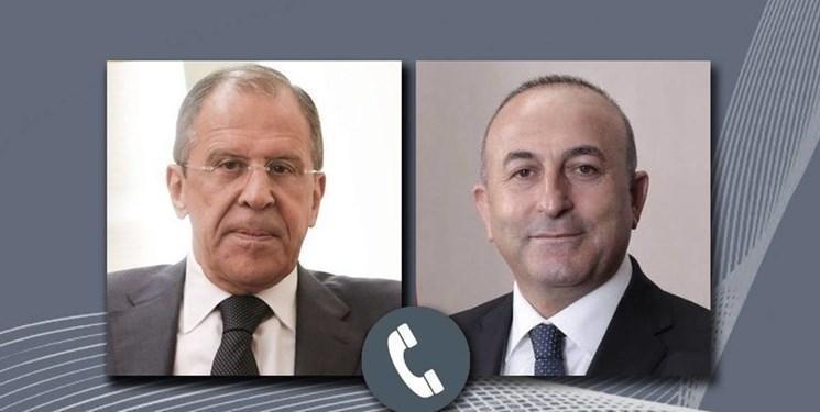گفت وگوی تلفنی وزرای خارجه روسیه و ترکیه درباره شمال سوریه