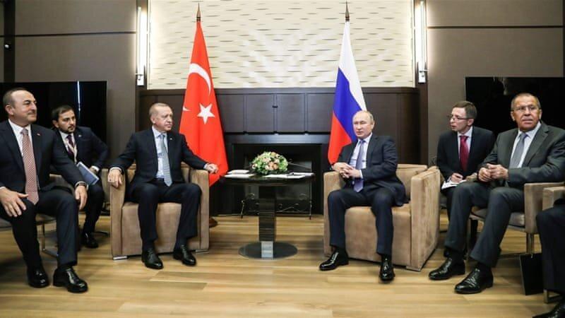 پوتین در دیدار با اردوغان: وضعیت سوریه سخت است