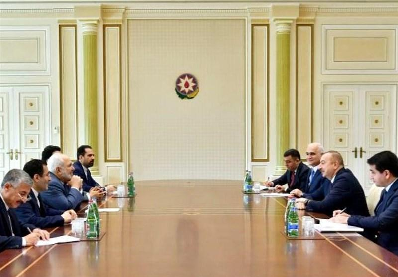 دیدار ظریف با رئیس جمهور آذربایجان در حاشیه نشست جنبش عدم تعهد