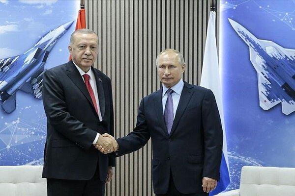 پوتین و اردوغان در ارتباط با سوریه تلفنی مصاحبه کردند
