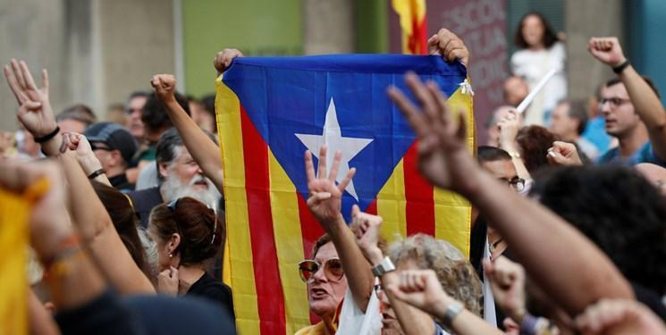 استقلال طلبان کاتالونیا بزرگراه ها را در اسپانیا مسدود کردند