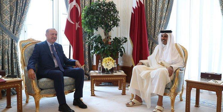 اردوغان با امیر قطر ملاقات کرد