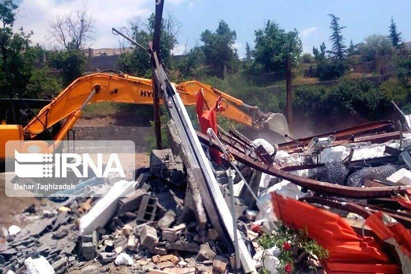 252 مورد ساخت و ساز غیرمجاز شمیرانات تخریب شد
