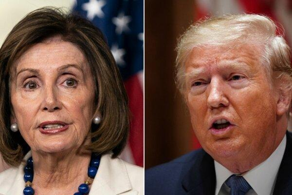 ترامپ: پلوسی ضربات عظیمی را بر آمریکا وارد کرده است