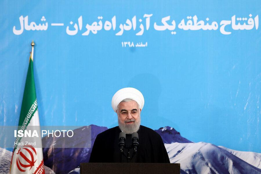 آزاد راه تهران - شمال بطور رسمی افتتاح شد