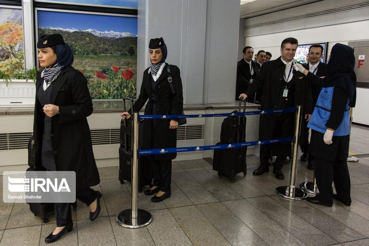 خبرنگاران مسافران فرودگاه یاسوج غربالگری می شوند