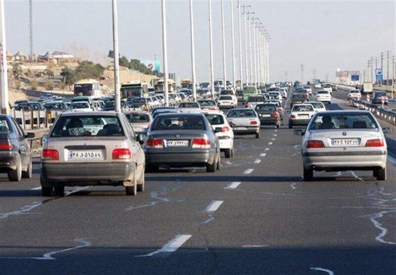 ترافیک در آزادراه های قزوین نیمه سنگین اعلام شد